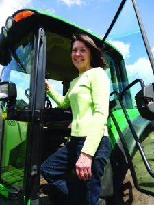 Karyn on Tractor smaller