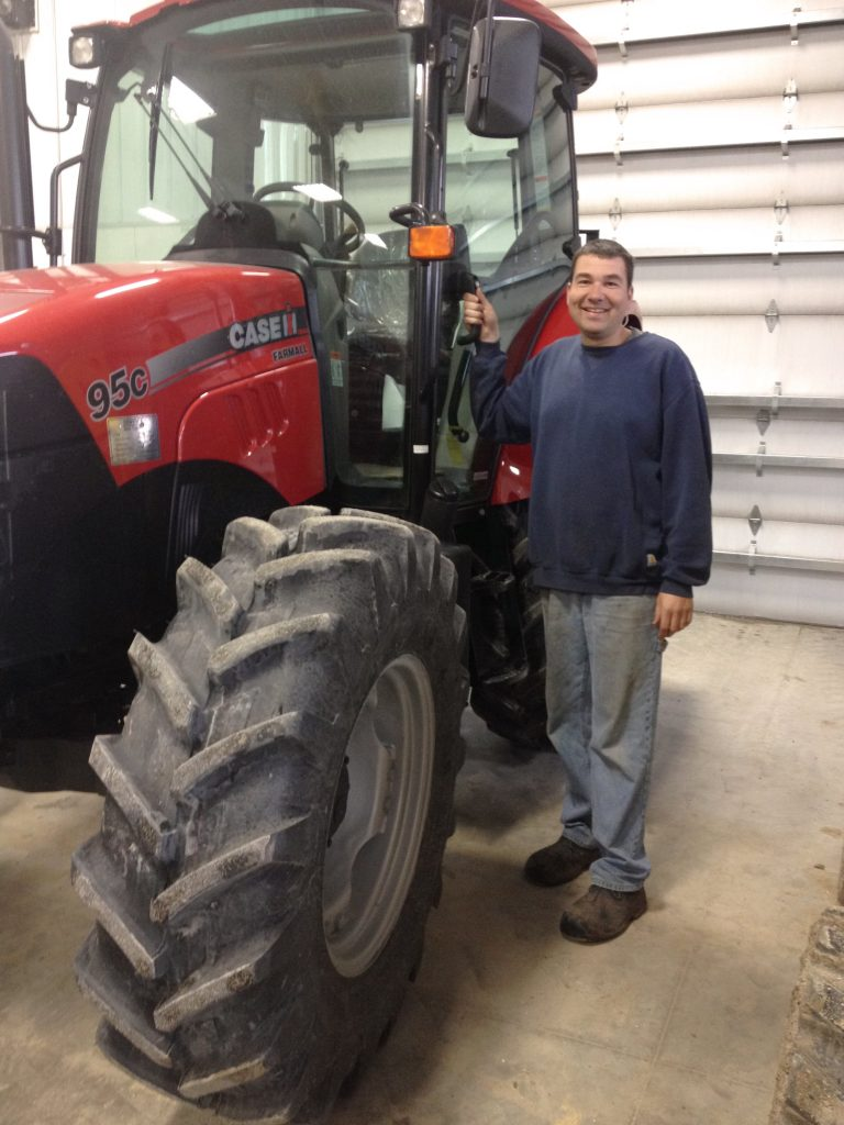 Chris with tractor.