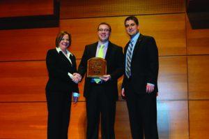 Giebel Accepting Award