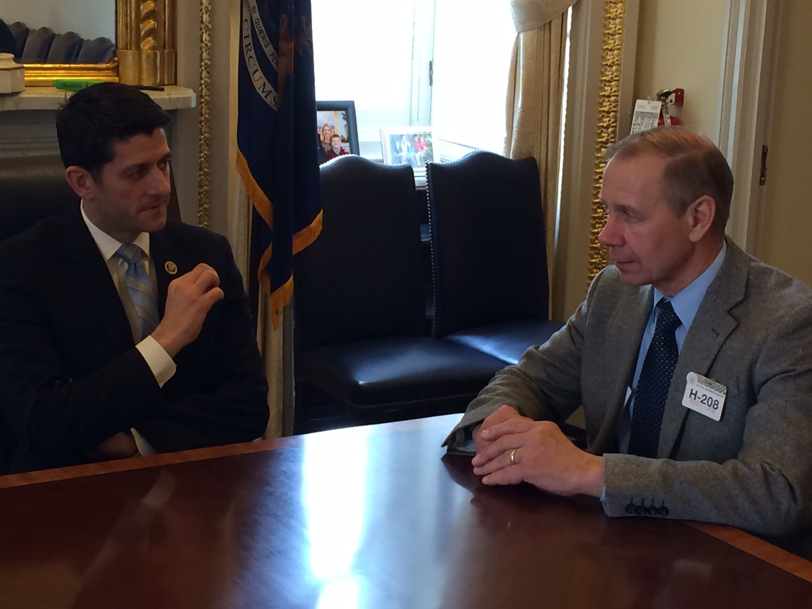 Congressman Paul Ryan with Jim Holte