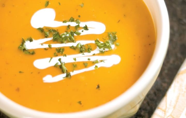 Creamy Butternut Squash Soup with Herbs