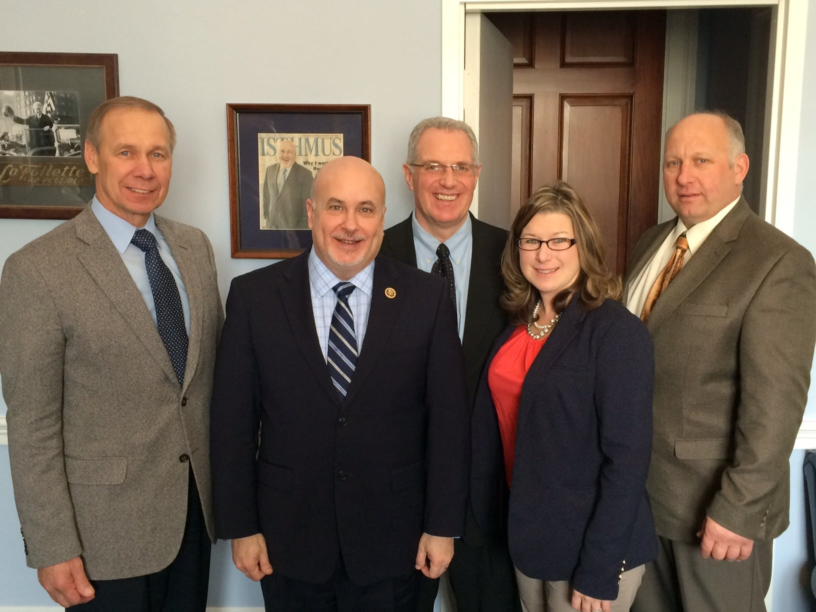 Wisconsin Farm Bureau members discused agriculture topics with Congressman Mark Pocan