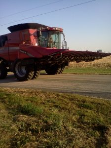 Combine on Road_Kamps
