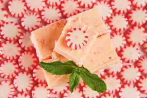 Festive Peppermint Fudge