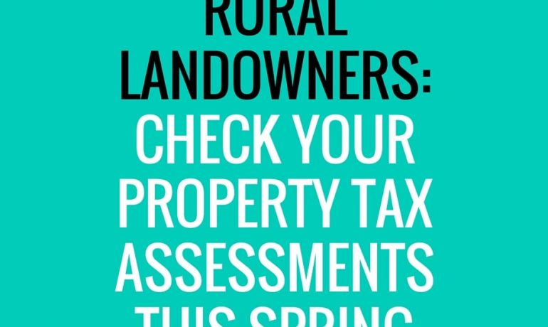 Rural Landowners Should Check 2016 Tax Assessments