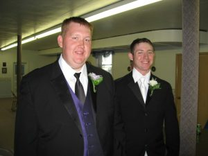 Steve and Chris at Chris's Wedding