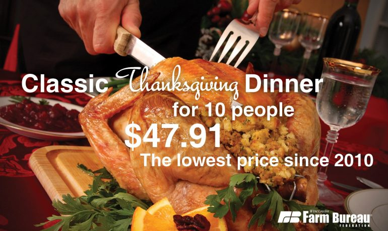 Thanksgiving Dinner Costs Less This Year