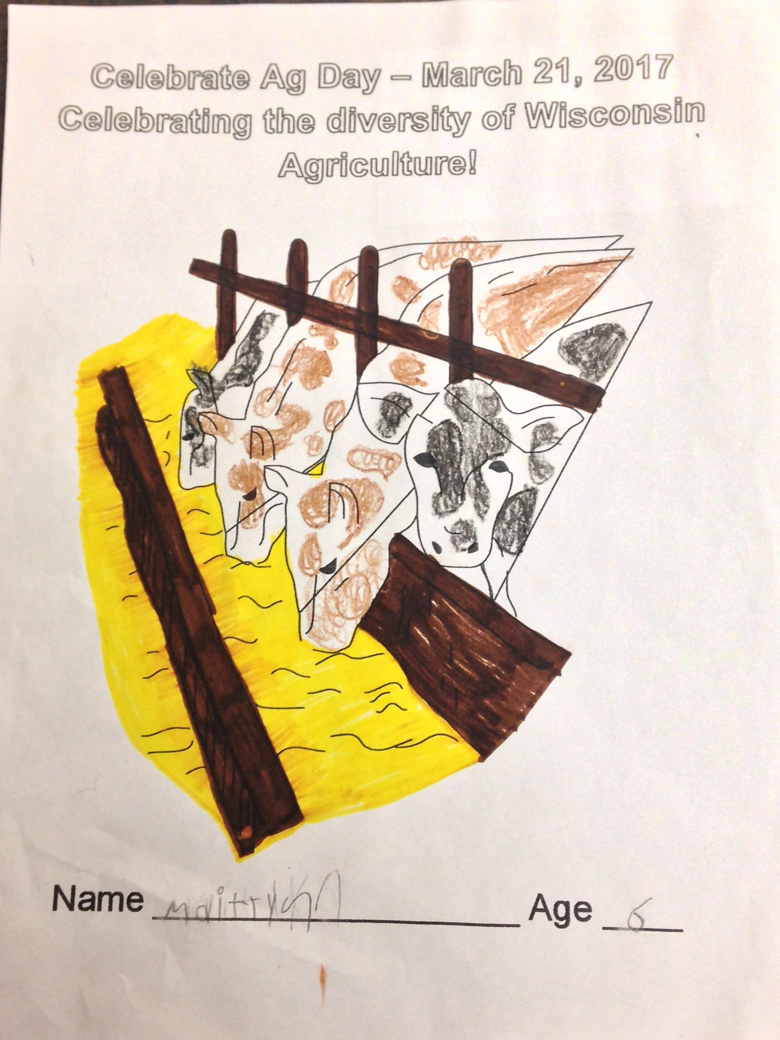 Ag in the Classroom Coloring Contest Winners
