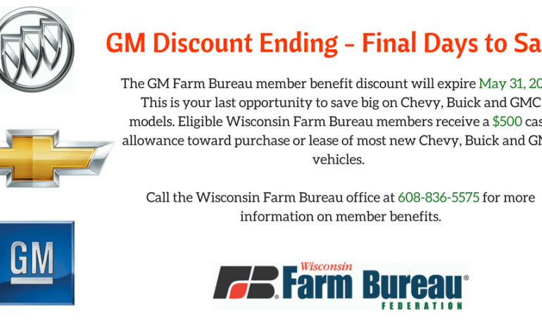 GM Discount Ending May 31, 2017