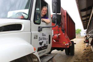 patti in feed truck