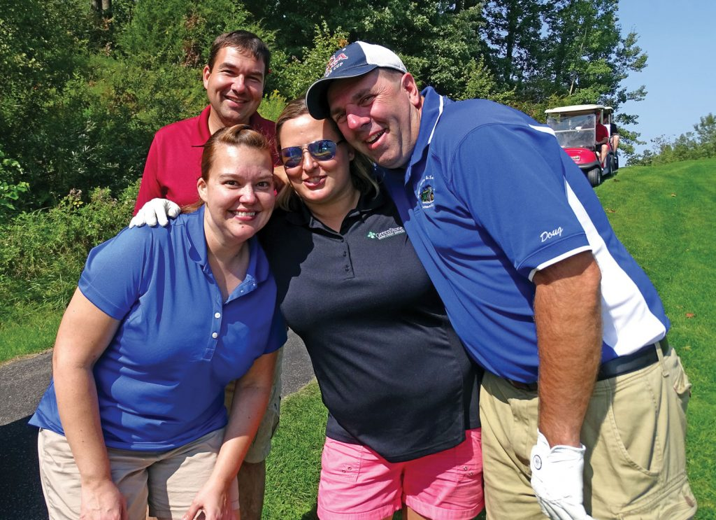 Members of the Wisconsin Farm Bureau Foundation at a golf outing