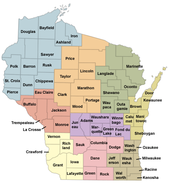 Wi County Map Wisconsin Farm Bureau Federation