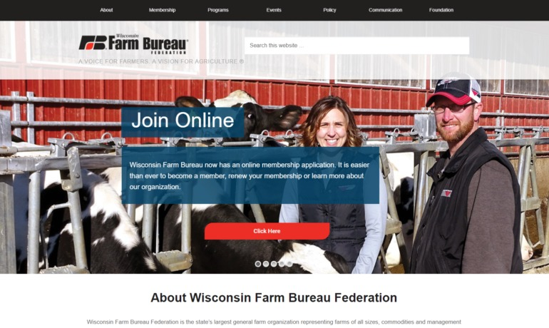 Wisconsin Farm Bureau Unveils New Website